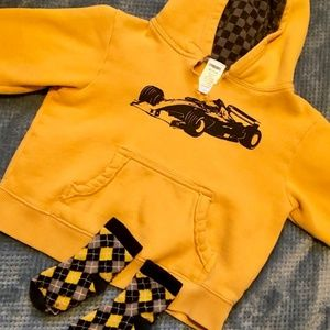 Gymboree hoodie with matching socks